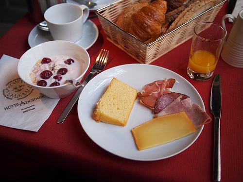 Before beer and bike, breakfast